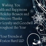Happy Holidays from Weston Hurd LLP