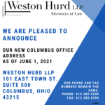 Weston Hurd's Columbus Office is On the Move!