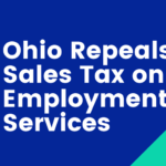 Ohio Repeals Sales Tax on Employment Services